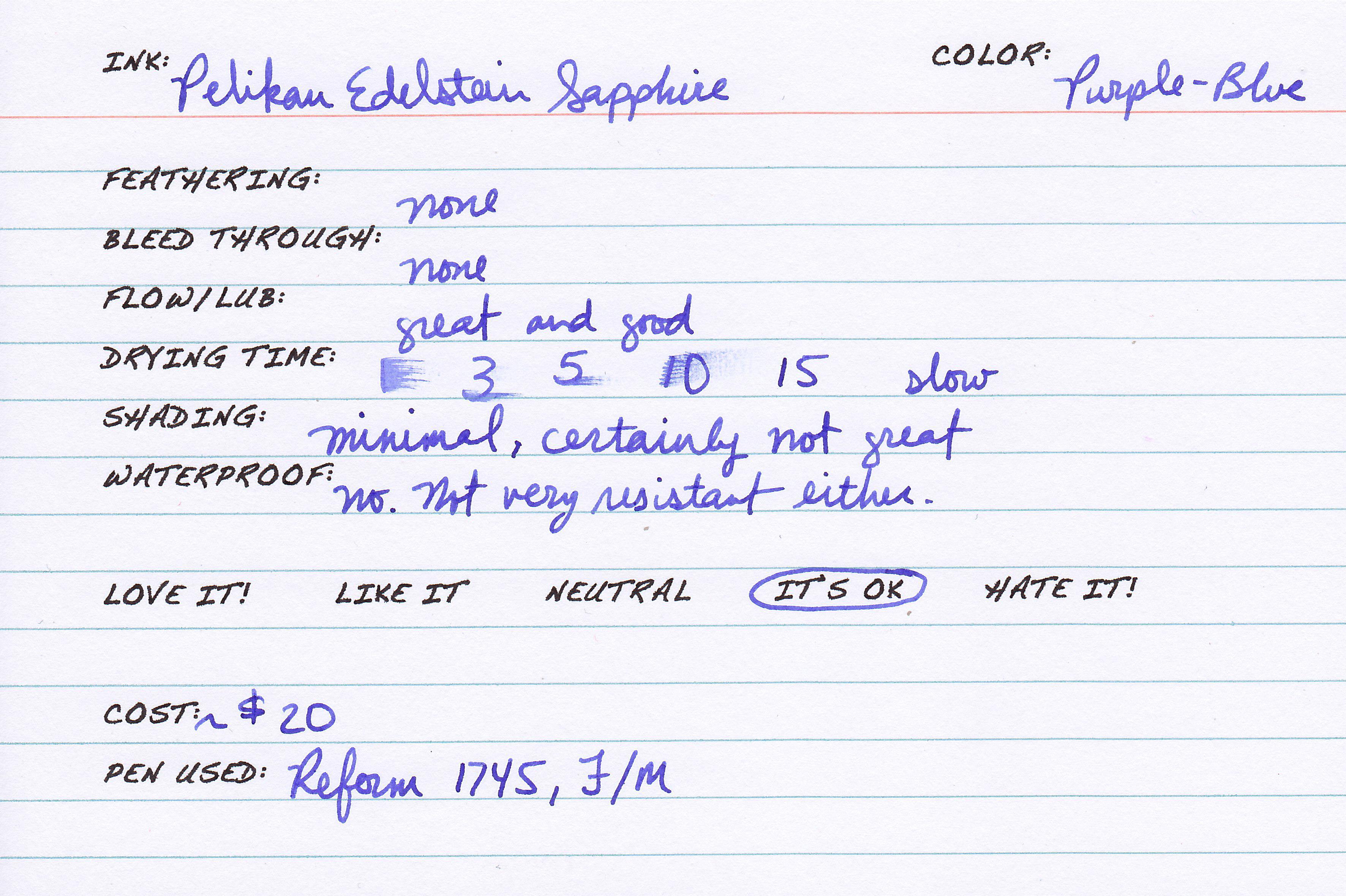 Pelikan Edelstein Sapphire The Dizzy Pen
